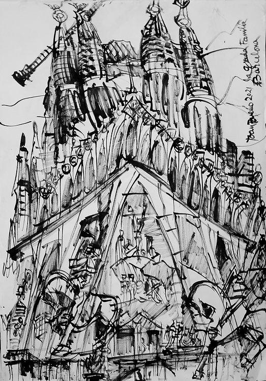 Sagrada Familia Tinta China #3