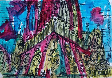 Sagrada Familia Acuarela #5