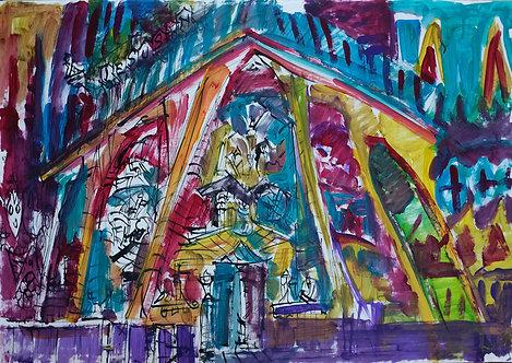 Sagrada Familia Acuarela #2