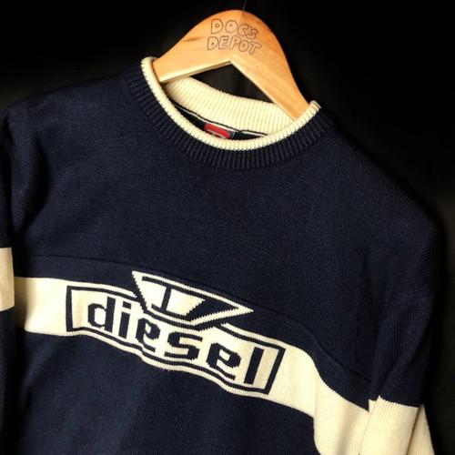 dde032e3 Vintage 1990s diesel spell out wool sweater sweatshirt