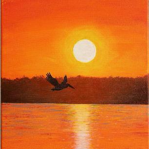 """Sunset Pelican"""