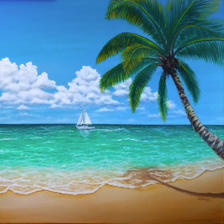 """Oil on gallery wrapped canvas 24"""" x 48"""""""
