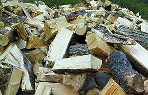 split logs for firewood