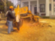removinga  tree stump with a stump grinder in NY