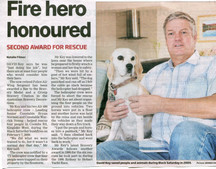 Second Bravery Award for association member Dave Key