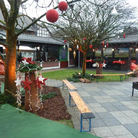 Marktplatz auf dem Weihnachtsmarkt