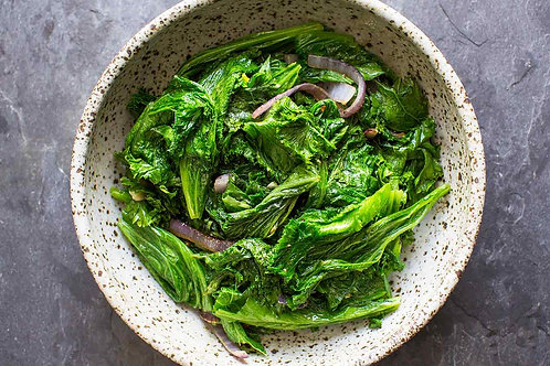 Braised Kentish Greens with Black Pepper Butter for 2