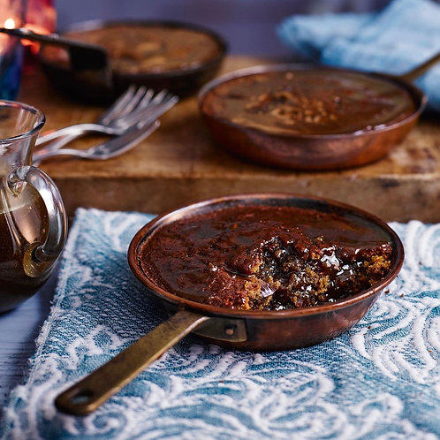 Family size sticky toffee pudding with butterscotch sauce