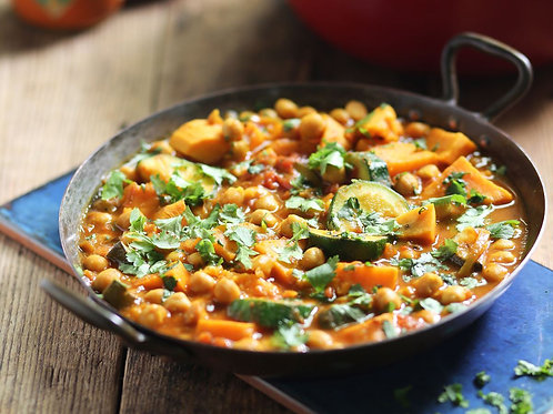 Roasted Vegetable Tagine with Lime Couscous for 1