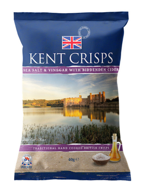 Kent crisps - Sea Salt & Vinegar with Biddenden Cider 150g