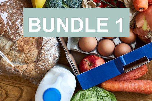 Bundle 1 for 1-2 people - Weekly Essentials Box & Ready Meals