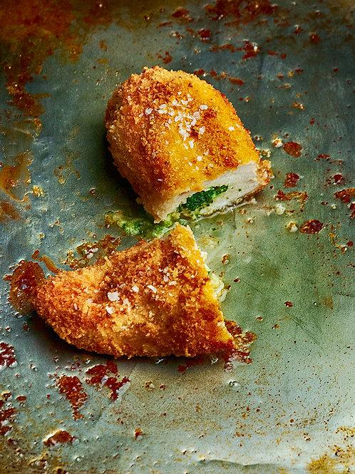 Chicken Kiev & Braised Hispi Cabbage for 1