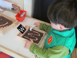 Writing letters in sprinkles