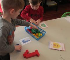 Lego letter construction