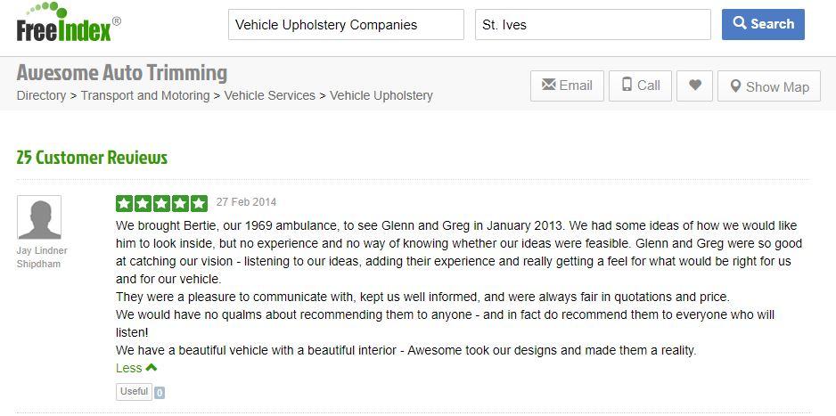 Customer review on Freedindex