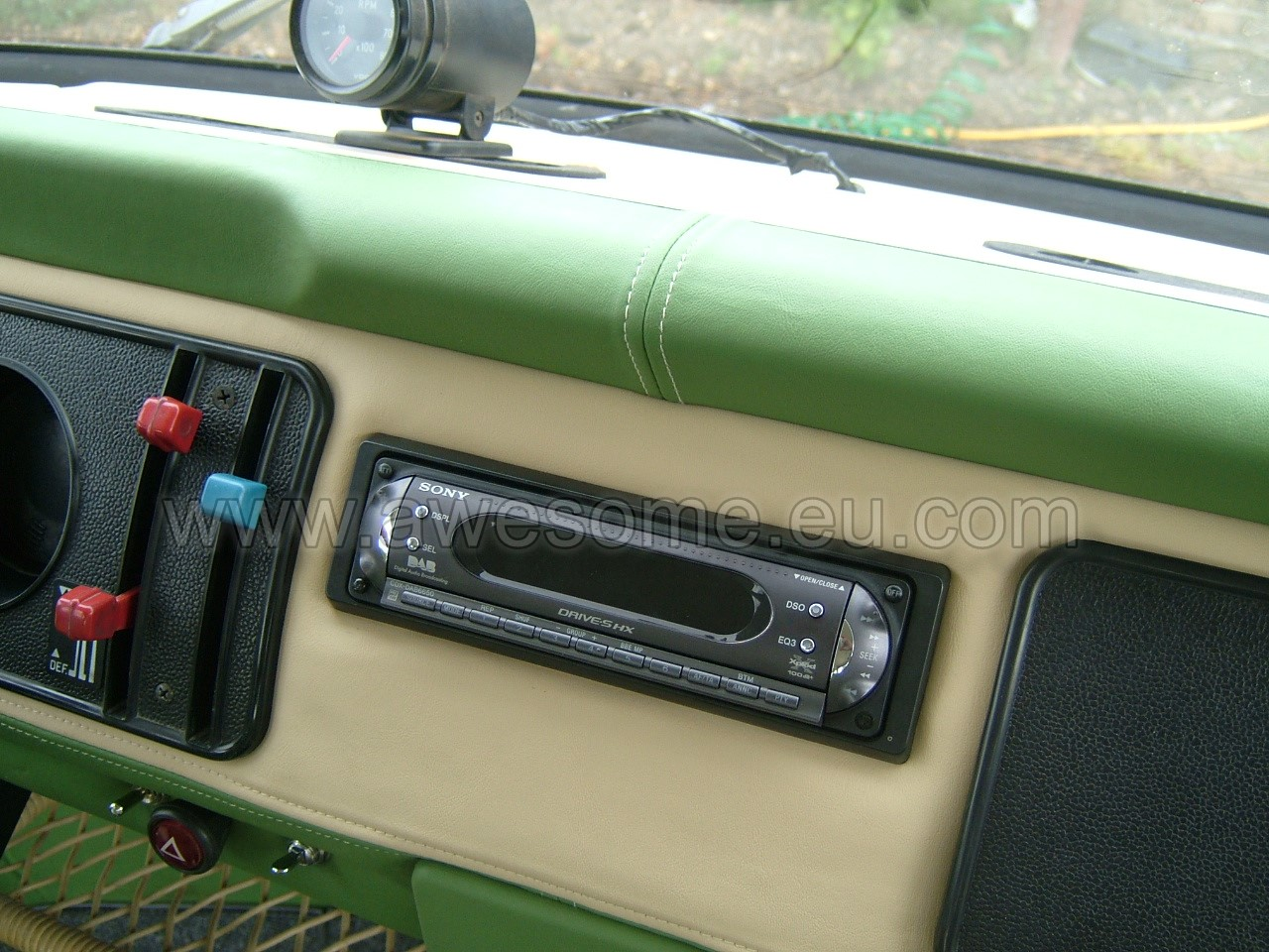 Volkswagen T2 campervan upholstered dashboard 12