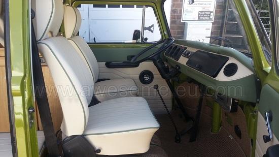 T2 Volkswagen Campervan interior