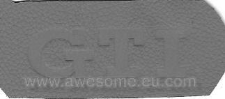 GTI embossed leather logo