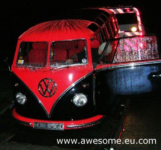Volkswagen split screen Vodafone bus