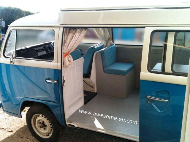 Type 2 Volkswagen Campervan interior