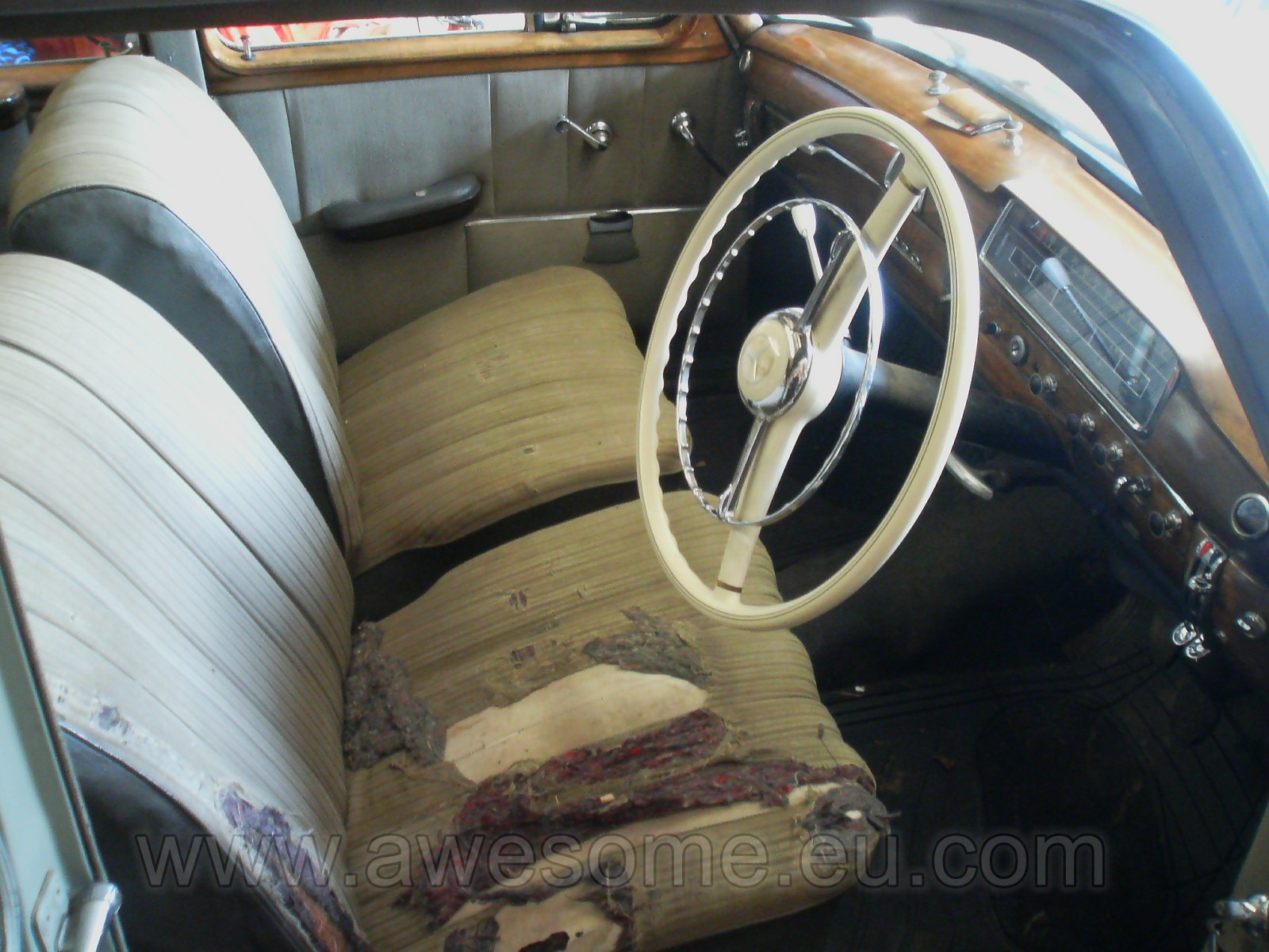 Original 1955 Mercedes Benz interior