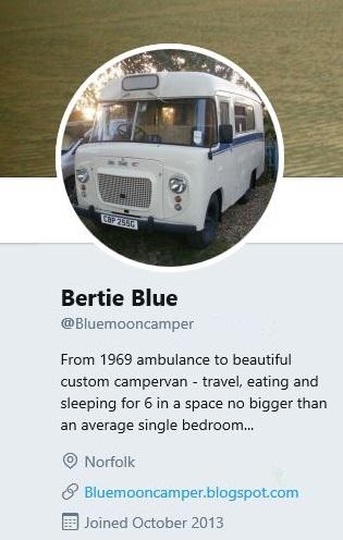 Bertie's Twitter profile