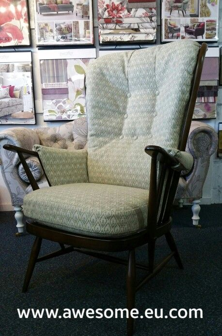 Reupholstered Ercol arm chair