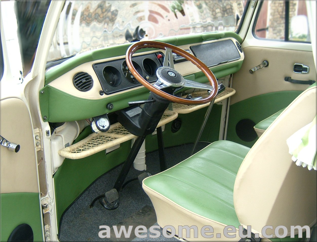 Volkswagen T2 campervan upholstered