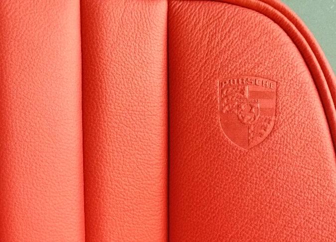 Embossed Porsche logo