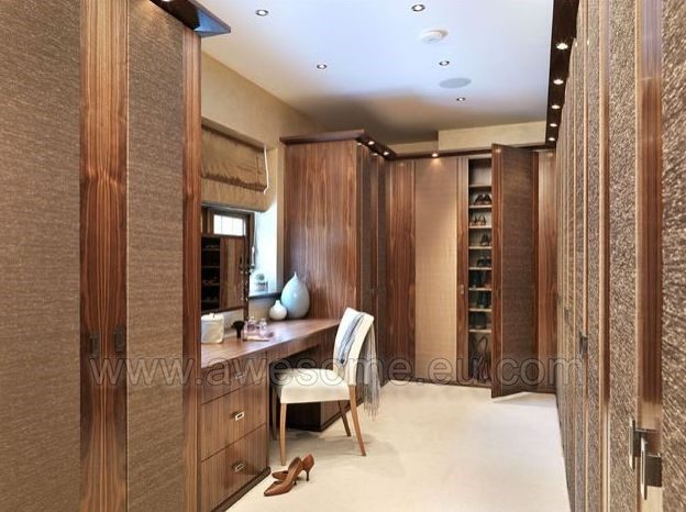 Silk bedroom door panels