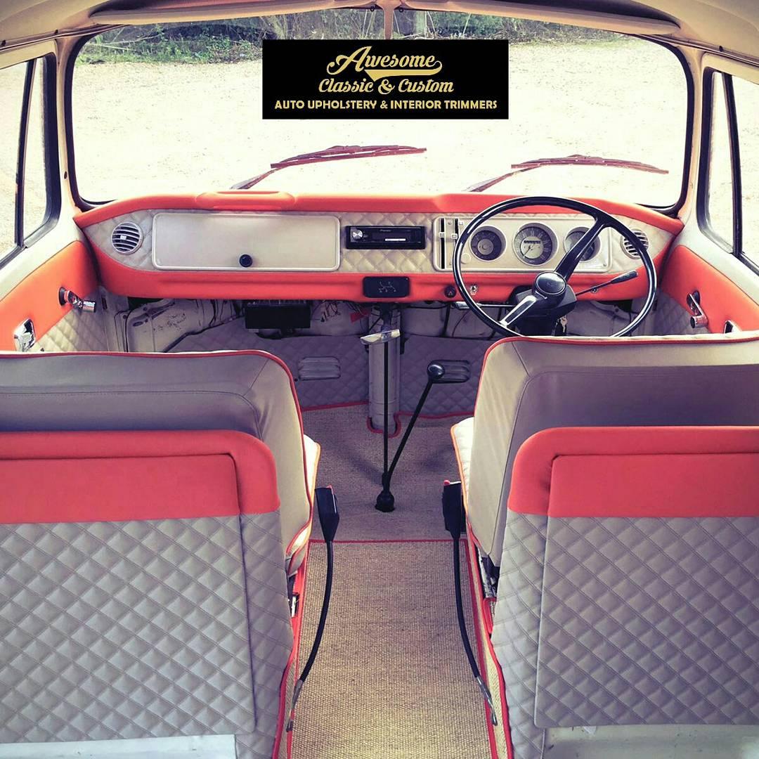 T2 VW custom campervan interior
