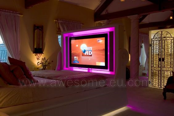 Custom trimmed TV bed