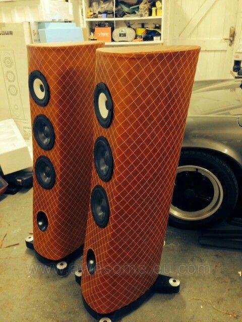 Custom stitched speakers