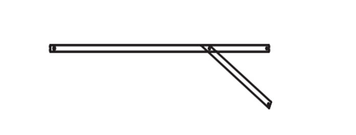 Parts F - Up anti-pooling rib for Commercial Canopy