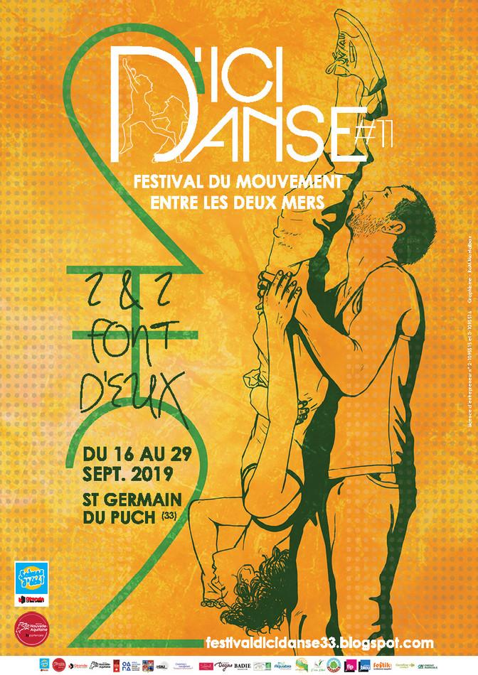 Festival D'ici Danse 2019 - Teaser & identité visuelle