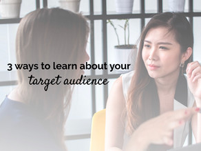 3 ways to learn about your target audience