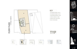 Typical floor plan (2 apartments)