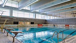View of olympic size pool