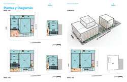 Schematic plans and massing