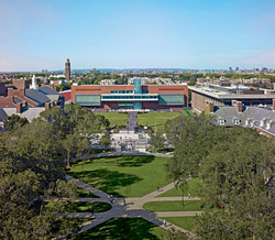 Aerial view from historic quad
