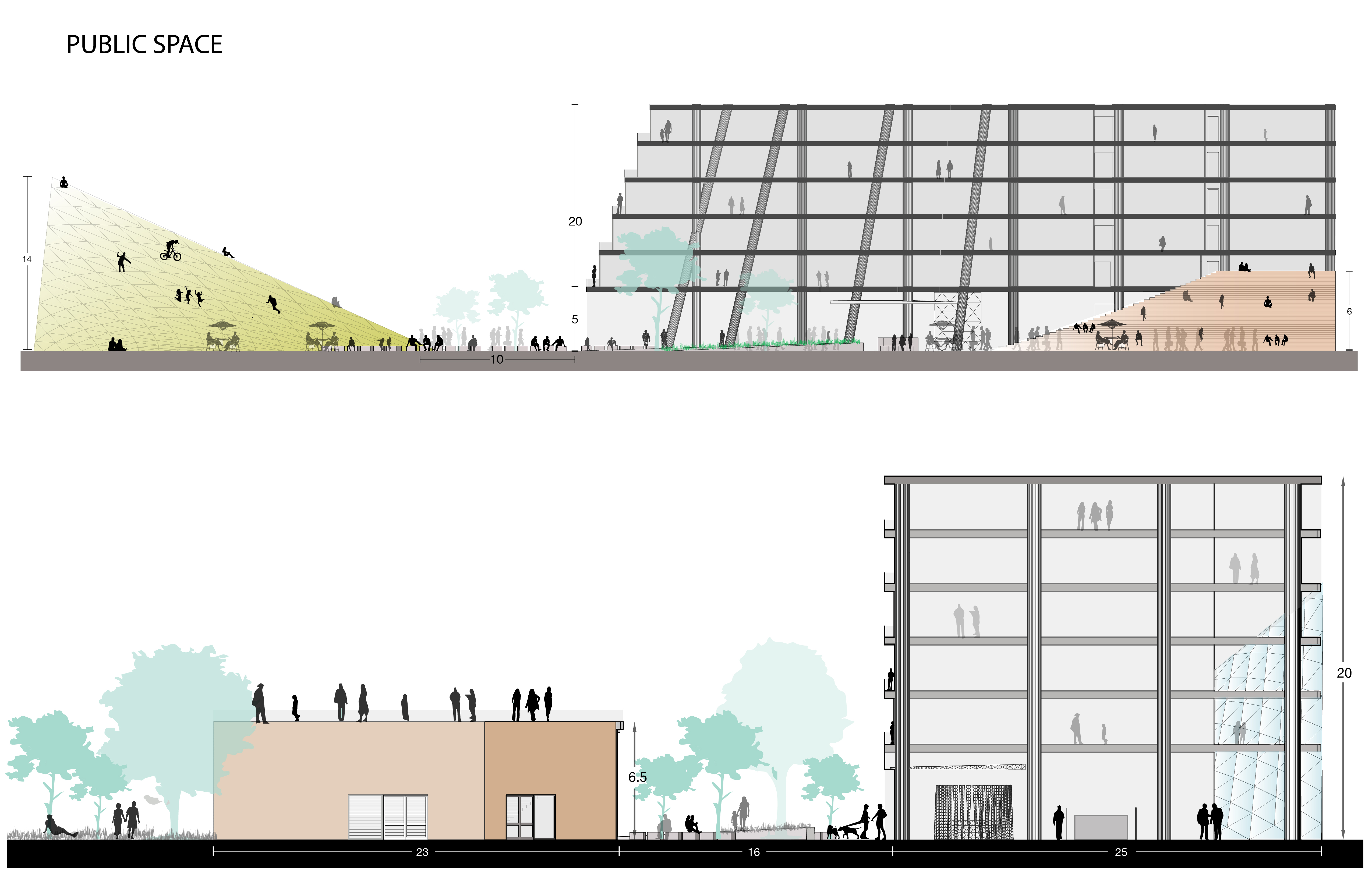 Sections public space, human scale-01