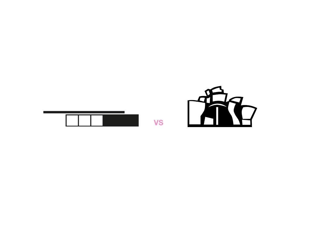 Rational vs iconic ?