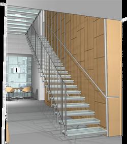 Library stair rendering