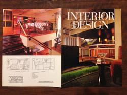 Interior Design Magazine spread