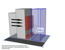 Extend upper floorplates