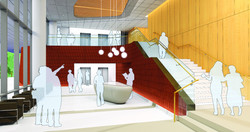 Lobby perspective view