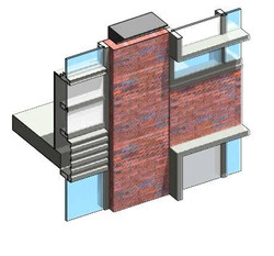 Vertical infill/strip transition