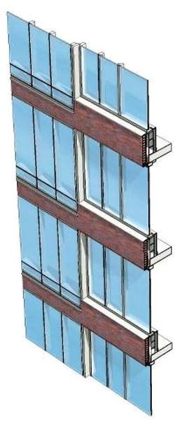 Strip window wall transition study