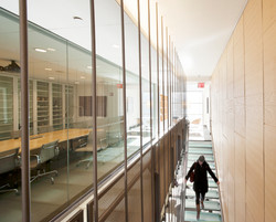 Glass walkway and stair