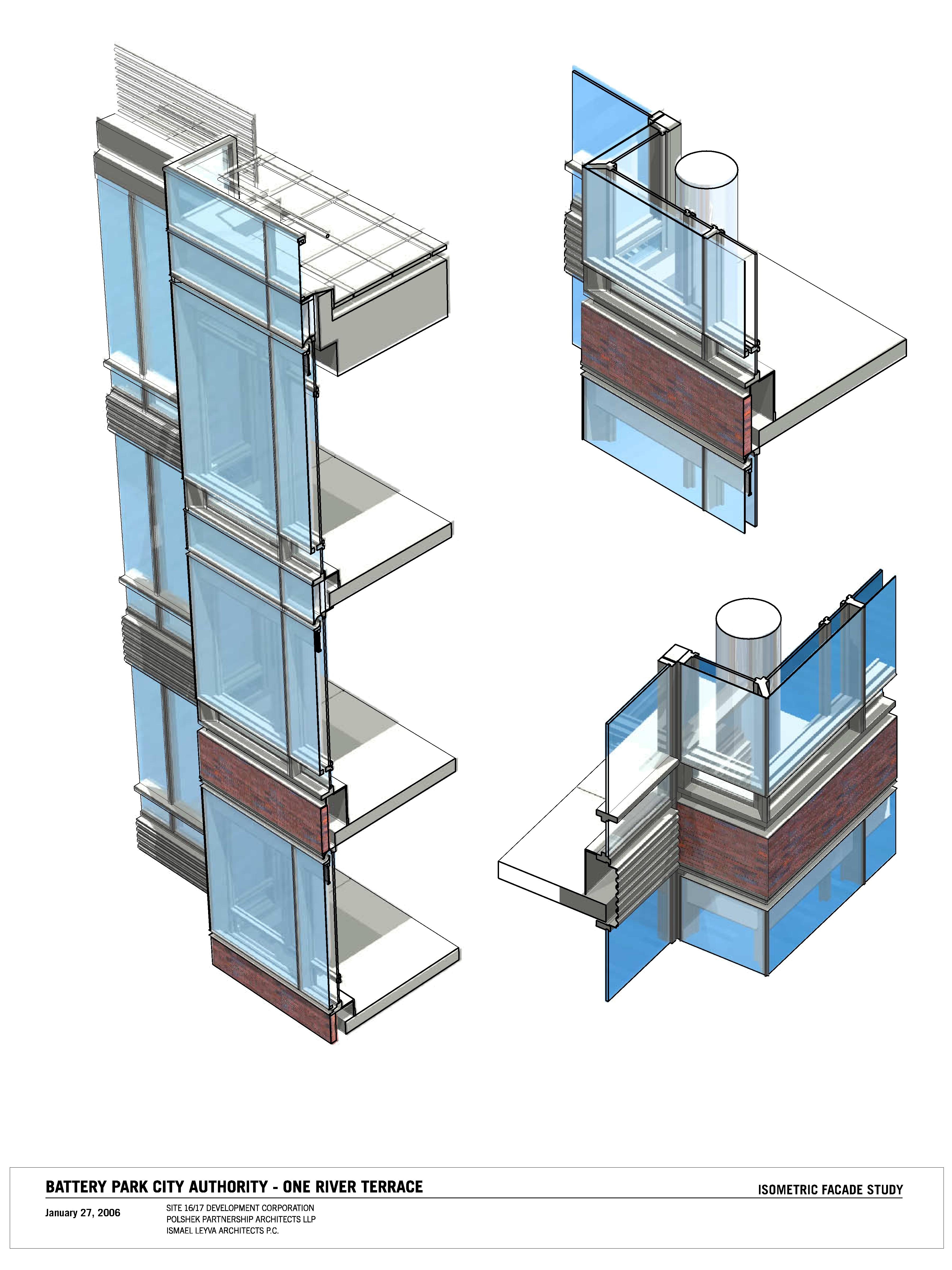 Double facade transitions
